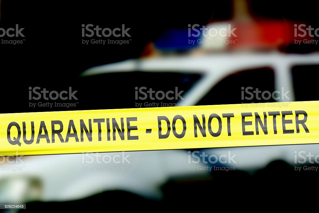 Quarantine scene stock photo