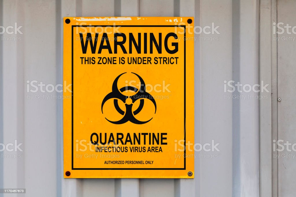 Quarantine sign - Royalty-free Accidents and Disasters Stock Photo