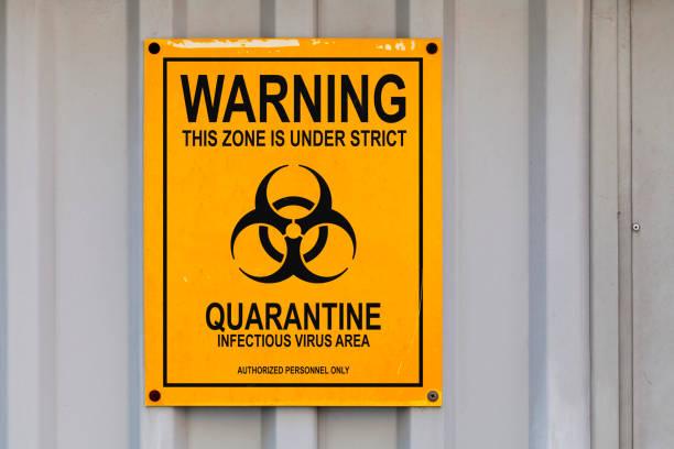 Quarantine sign stock photo
