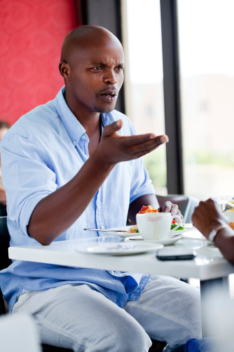 Quarrel During Meeting Stock Photo - Download Image Now