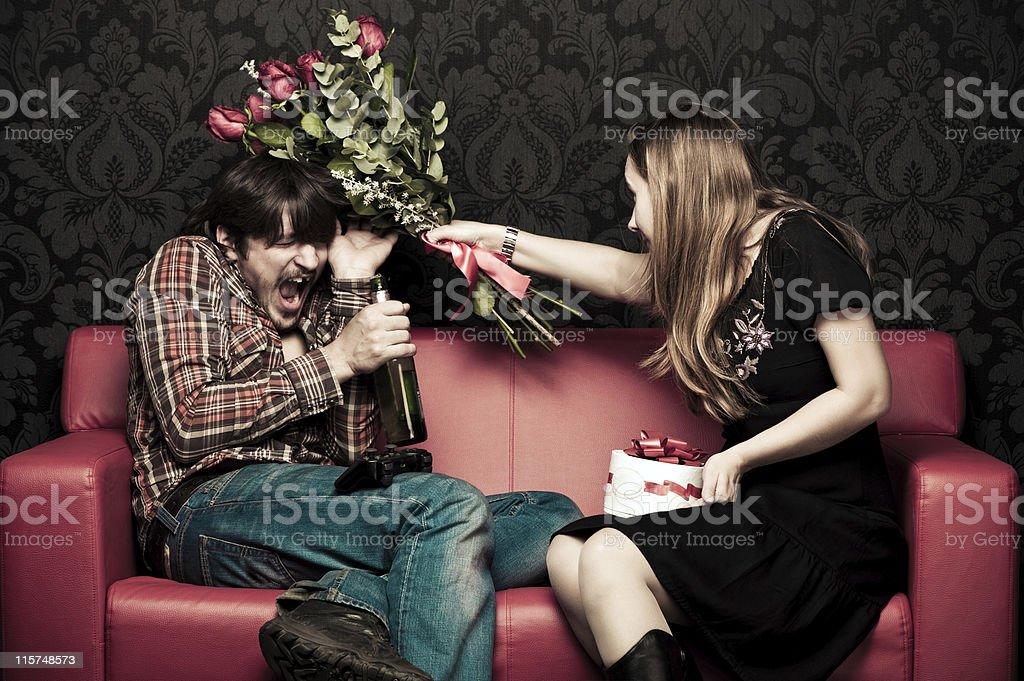 Quarrel stock photo
