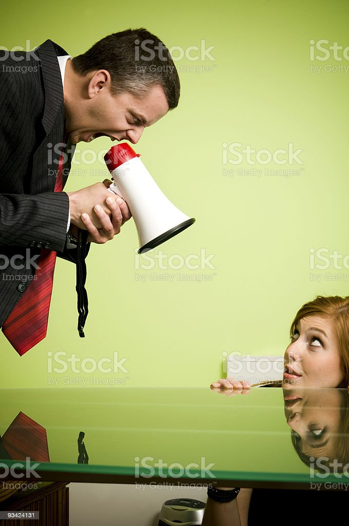 Quarrel stock photo