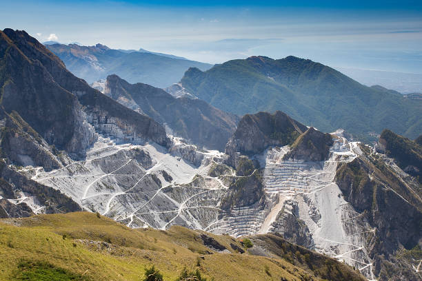 Quarries of Carrara stock photo