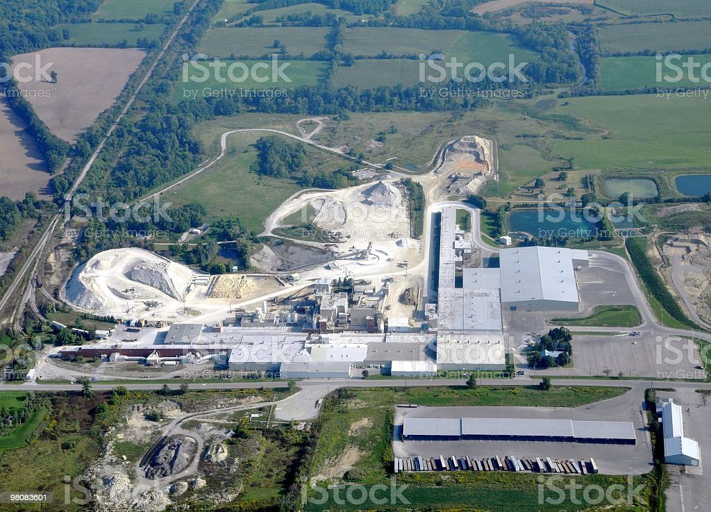 Quarry aerial royalty-free stock photo