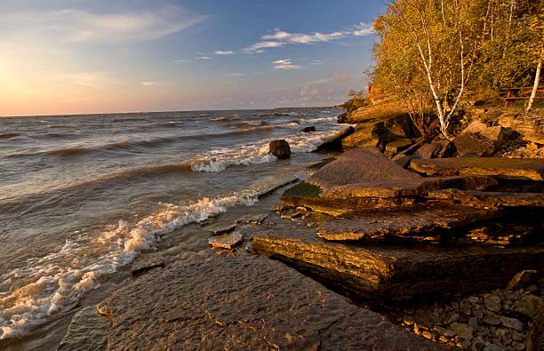 Quarry at Hecala Island Manitoba stock photo