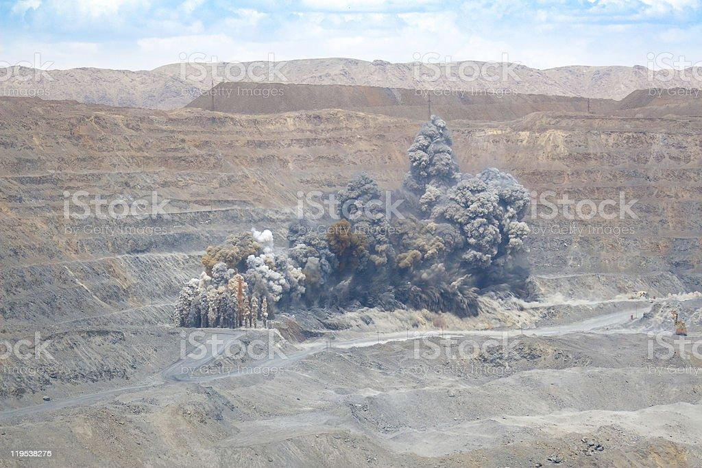 Quarry Blast stock photo