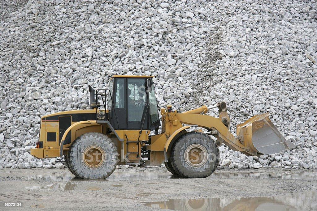 Quarry Bulldozer royalty-free stock photo