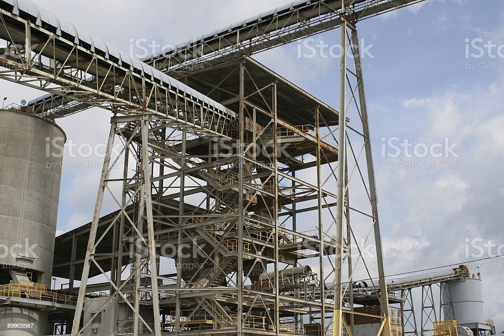 Quarry - Conveyors and equipment royalty-free stock photo