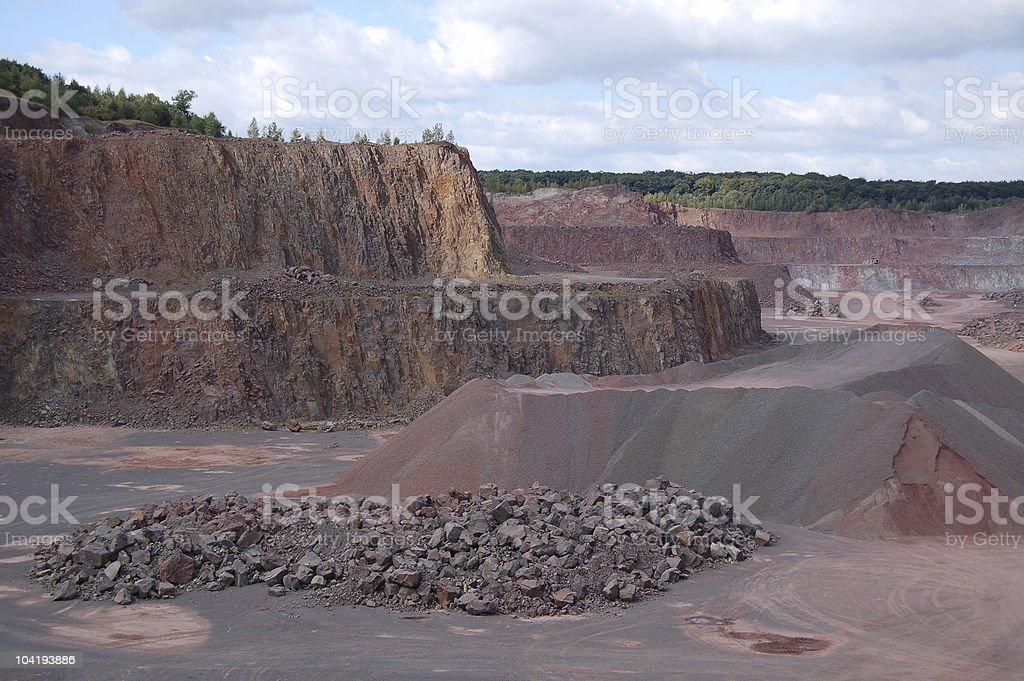 Quarry in Germany stock photo