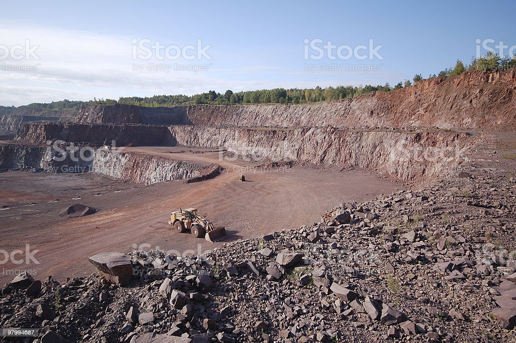 Quarry in Germany royalty-free stock photo