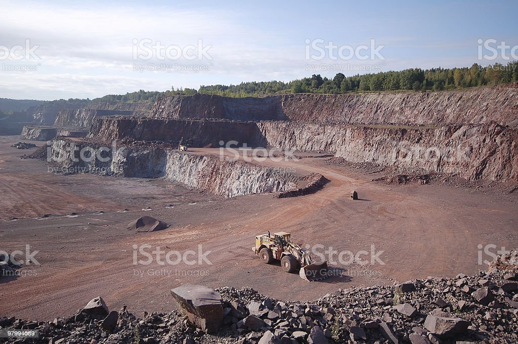 Quarry in Germany royalty free stockfoto