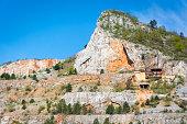 Stone pit landscape in Slovak Karst, Slovakia