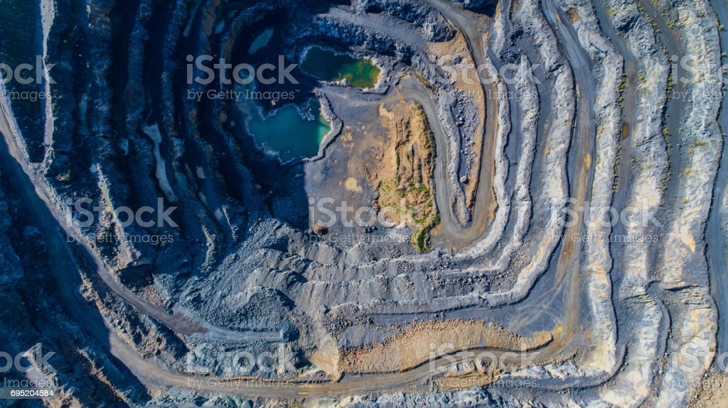 Quarry patterns stock photo