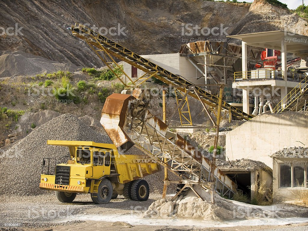 quarry royaltyfri bildbanksbilder