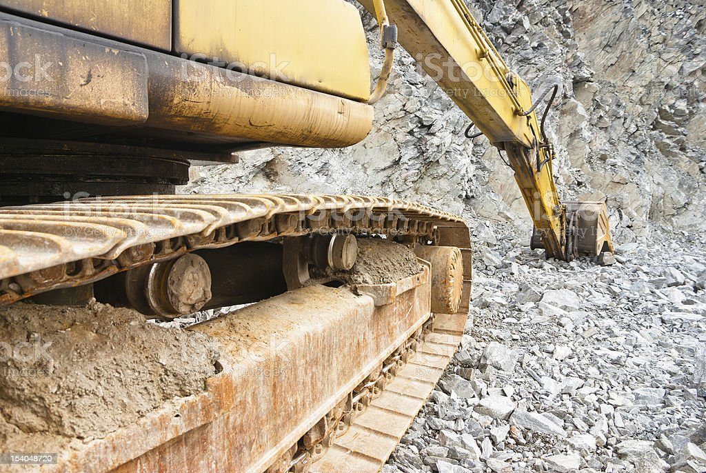 quarry work royalty-free stock photo