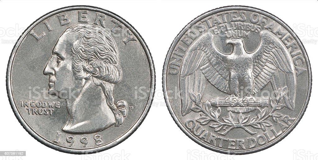 quarter dollar coin stock photo