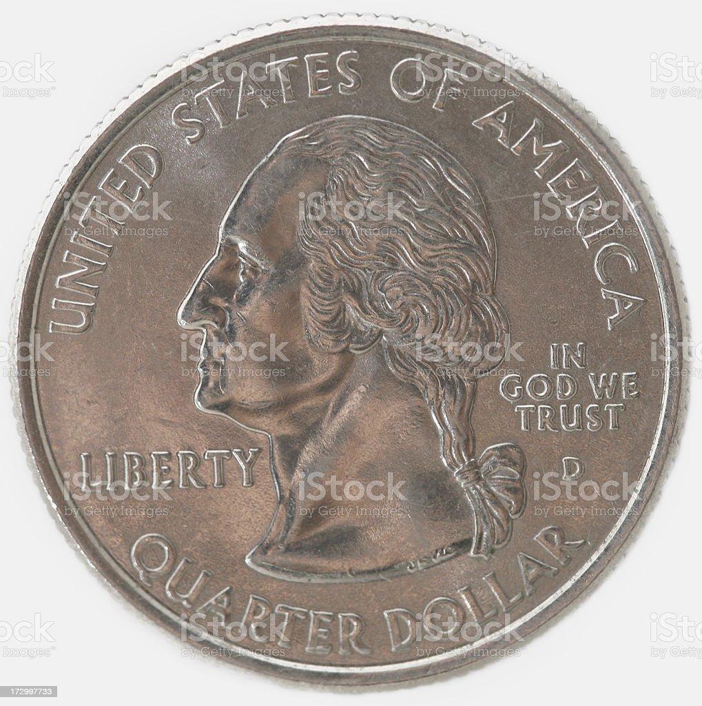U.S. Quarter Macro stock photo