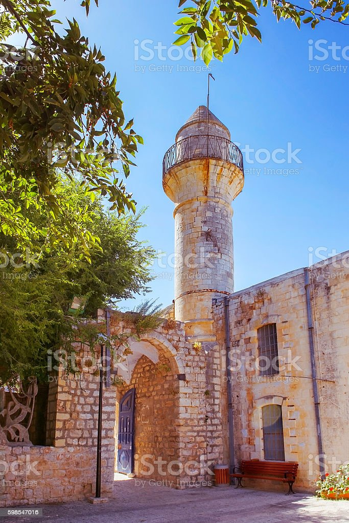quarter of artists of of the old city Safed, Upper Galilee, Israel photo libre de droits