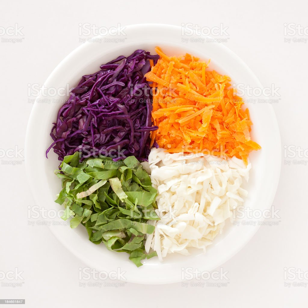 Quarter veggies stock photo