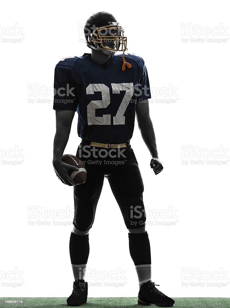 quarterback american football player man standing silhouette royalty-free stock photo