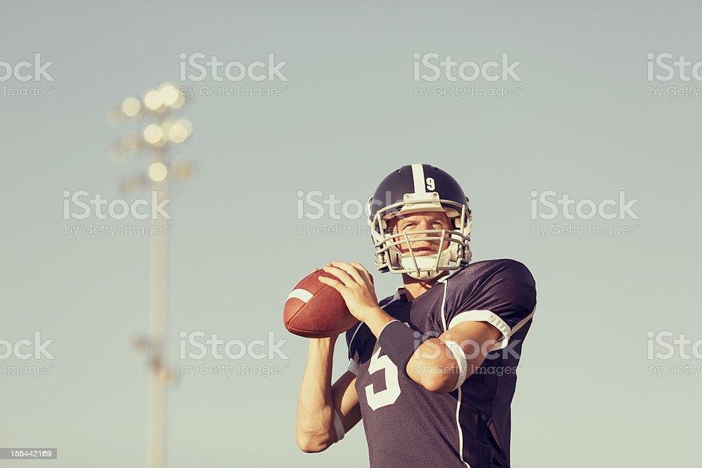 Quarterback stock photo