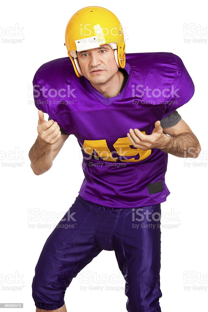 Quarterback royalty-free stock photo