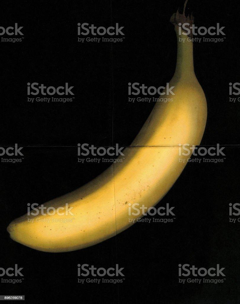 quartered banana stock photo