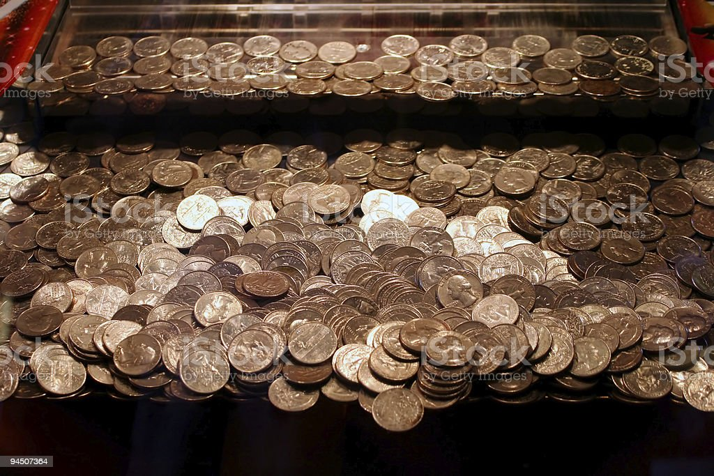 Quarters Game  Abundance Stock Photo
