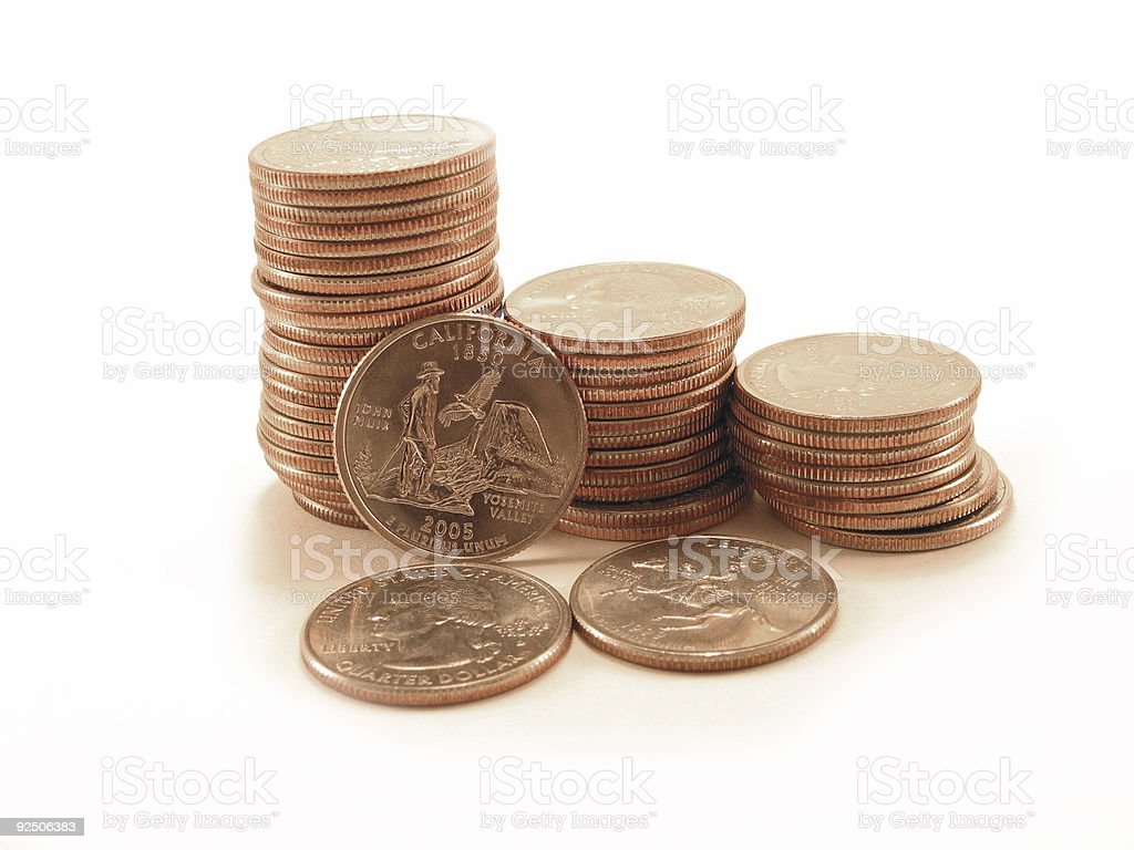 US Quarters royalty-free stock photo