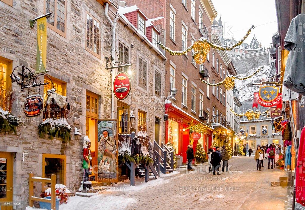 Quartier Petit Champlain, hiver - Photo