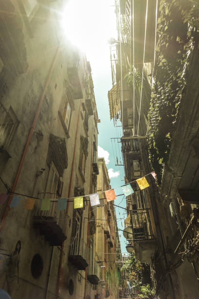 Quartieri Spagnoli alleys and streets of Naples - foto stock