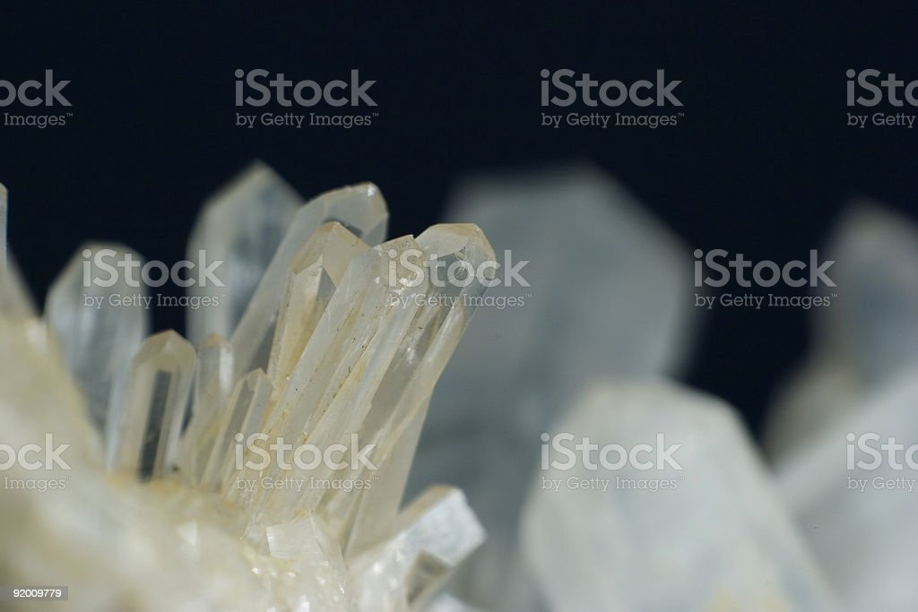 Quartz crystals, 1:1 macro royalty-free stock photo