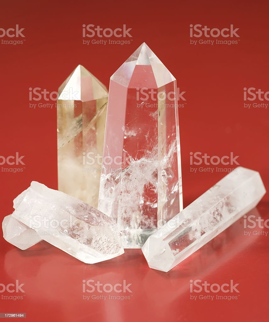 Quartz crystals royalty-free stock photo