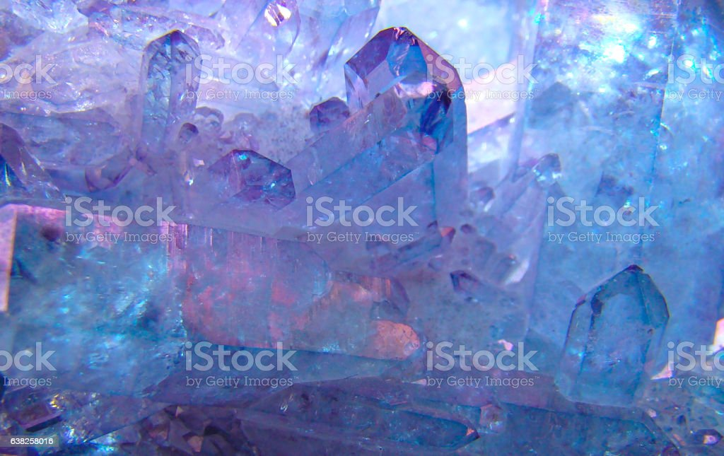 Quartz crystals, the background image. stock photo