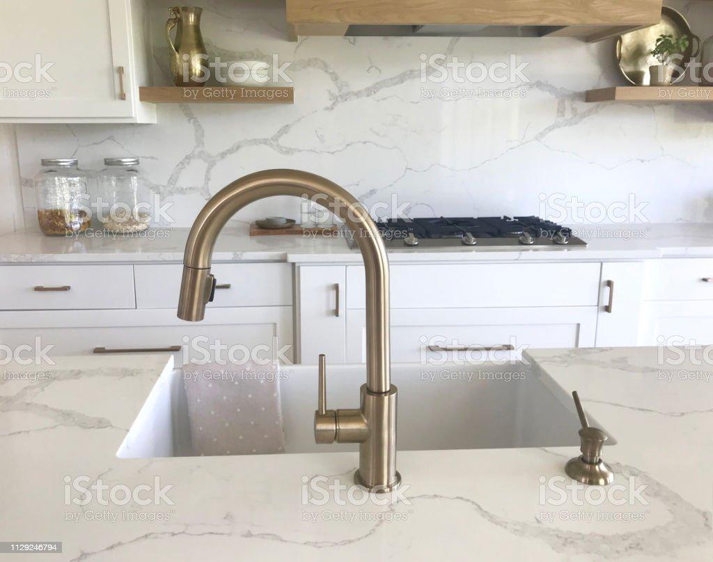 Quartz Marble Kitchen Stock Photo Download Image Now Istock