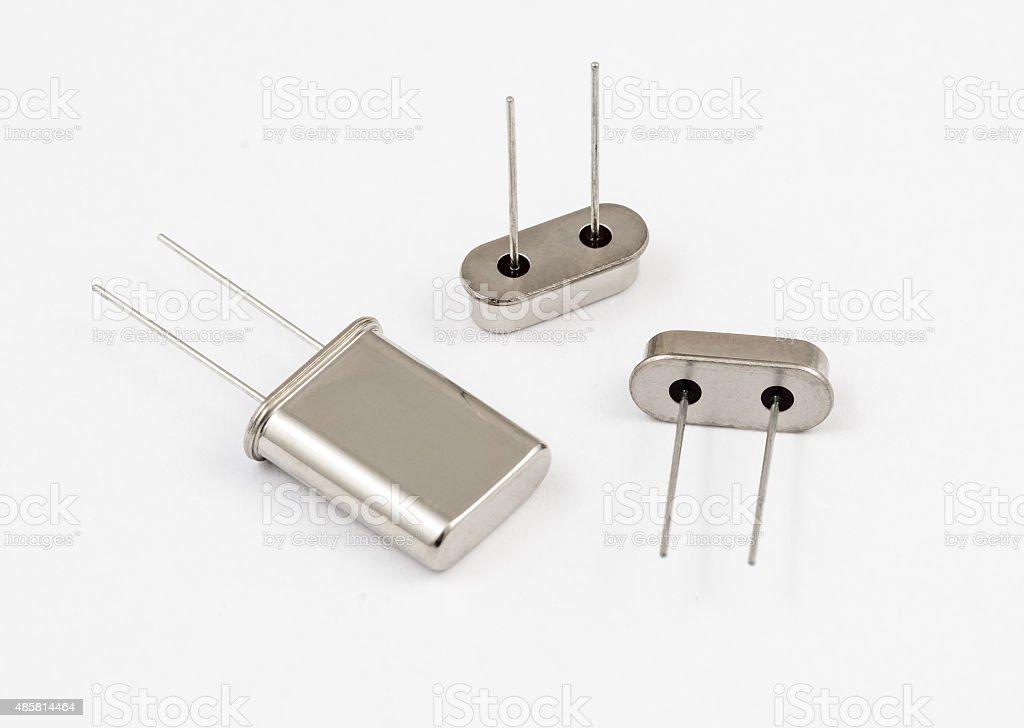 Quartz oscillator stock photo