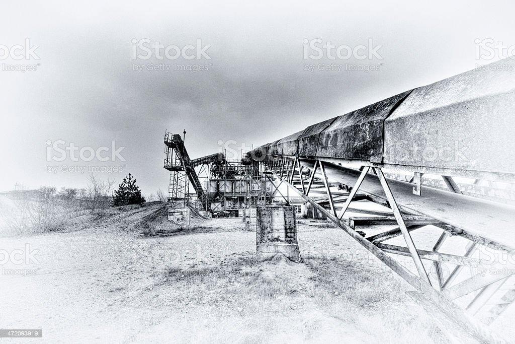 Quary Conveyor royalty-free stock photo