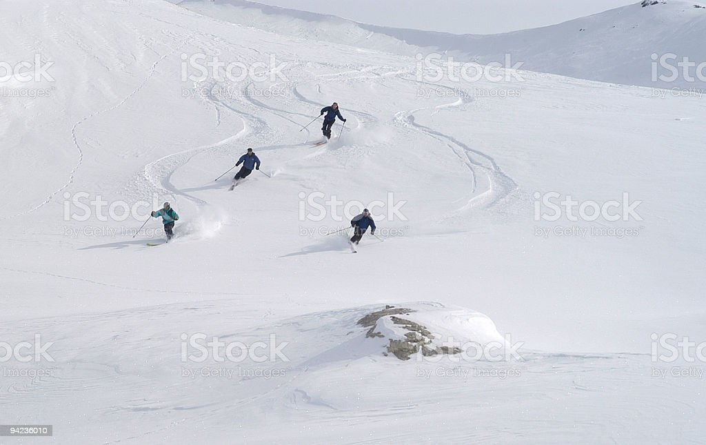 Quattro Amici covered in powdery snow royalty-free stock photo
