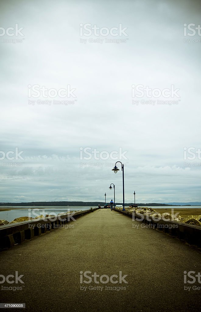 Quay at Baie-St-Paul royalty-free stock photo