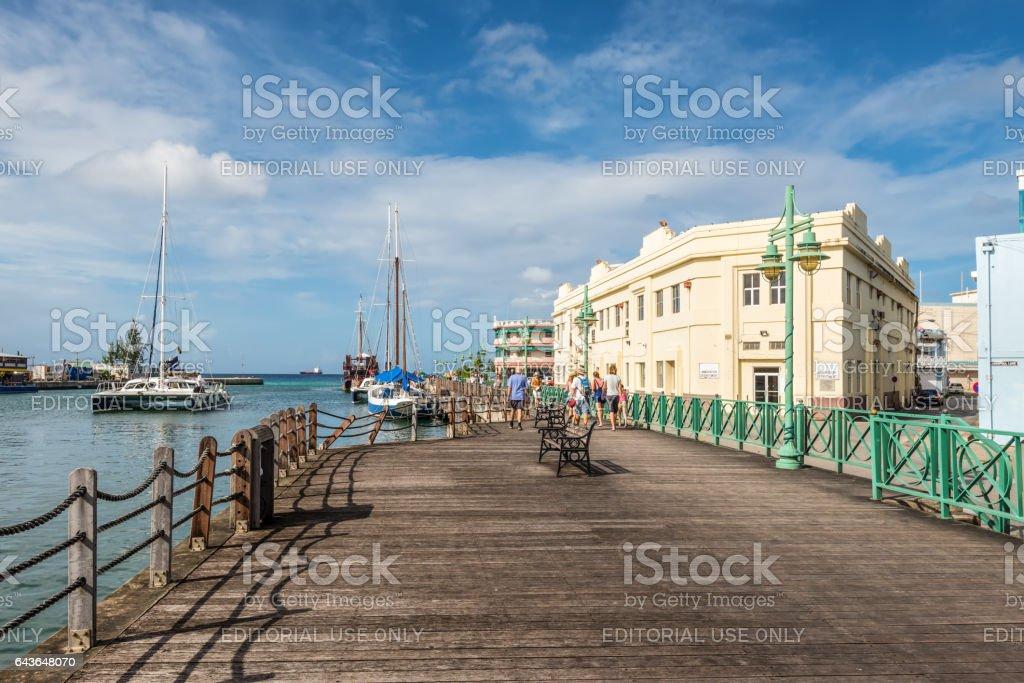 Quay at the Port of Bridgetown, Barbados stock photo