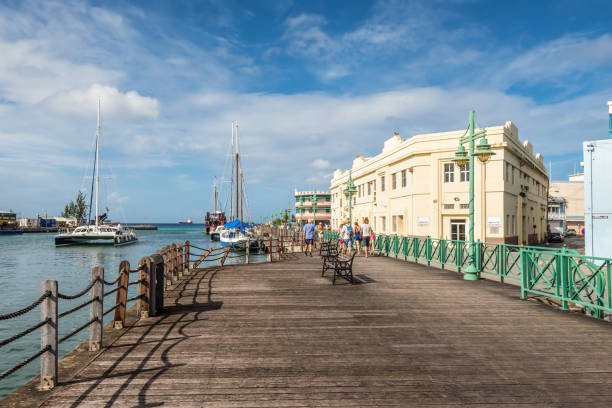 Quay at the Port of Bridgetown, Barbados stock photo