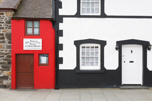 Quay House smallest house in Great Britain UK stock photo