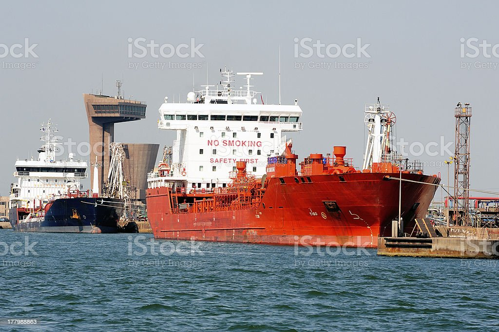 quay tanker to discharge royalty-free stock photo