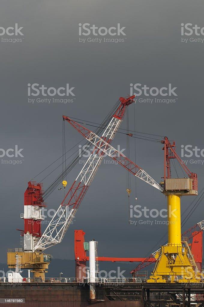 Quay-crane stock photo