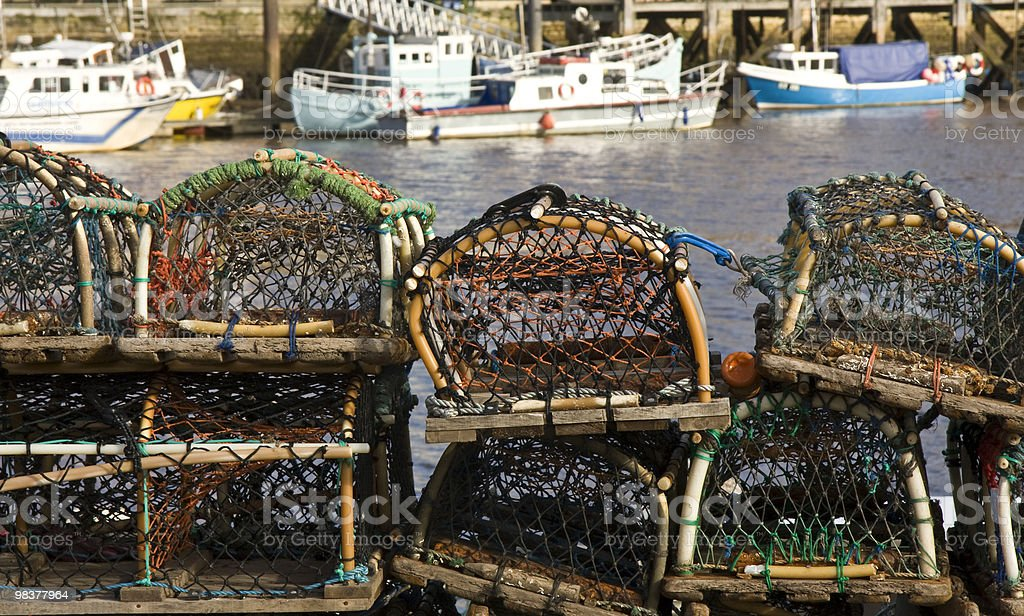 Quayside Crab Pots royalty-free stock photo