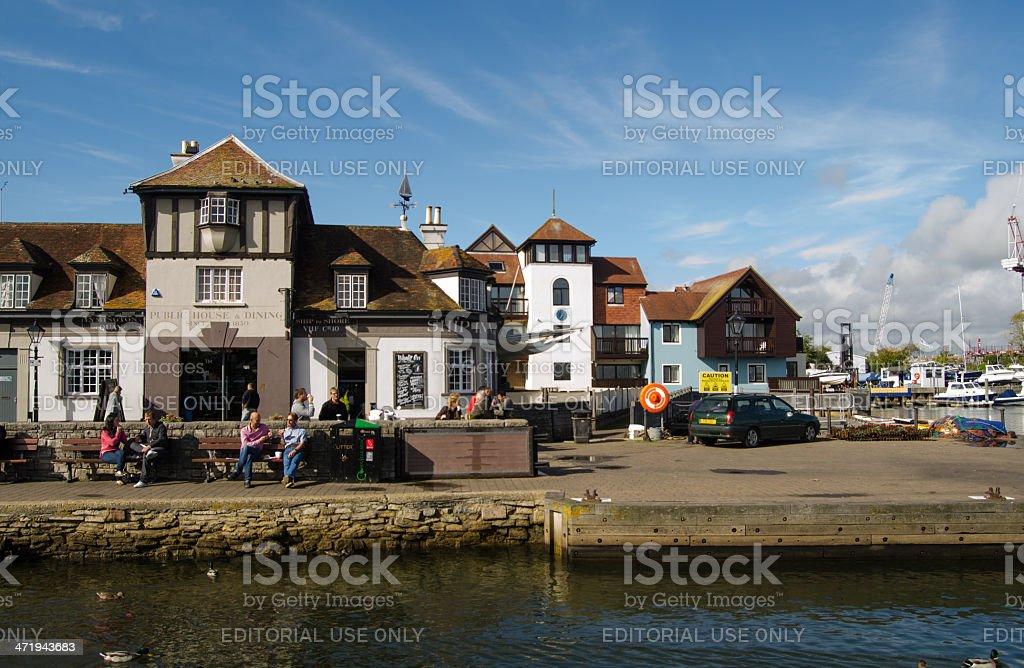 Quayside, Lymington stock photo