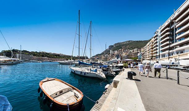 Quayside Monaco Marina stock photo
