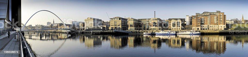 Quayside, Newcastle upon Tyne, UK royalty-free stock photo