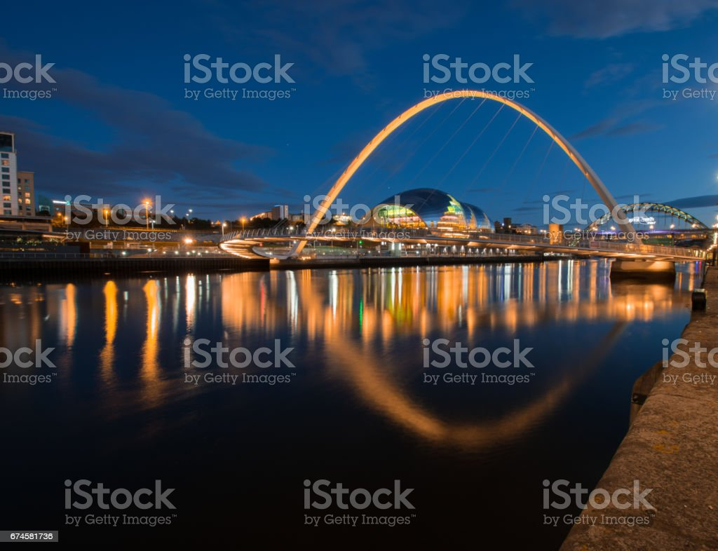 Quayside Reflections stock photo