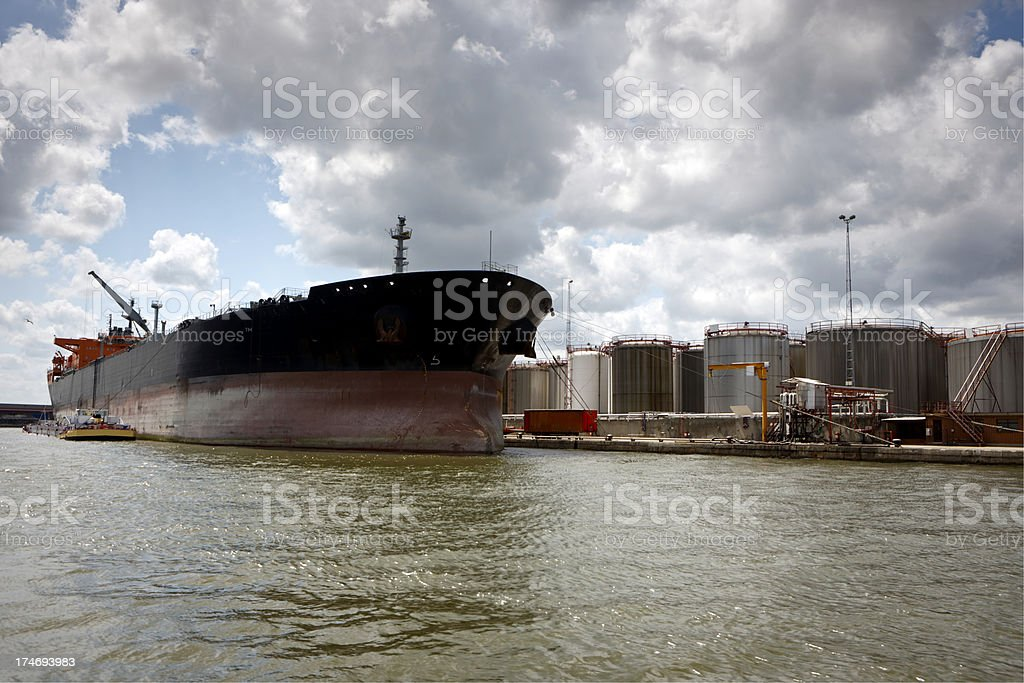 Quayside Tanker royalty-free stock photo